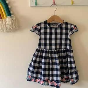 SPROUT gingham embroidered dress. Size 2